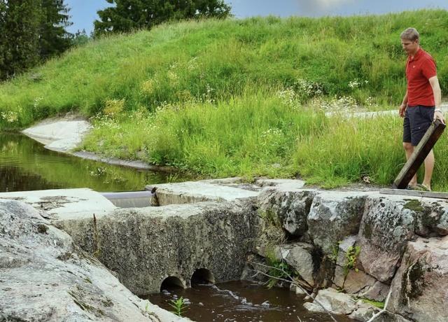 kuvassa Jaakko Juva Jonkarin padolla.